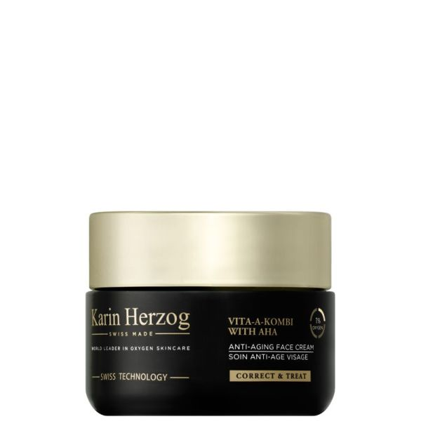 Karin Herzog Vita-A-Kombi with AHA, crema viso antietà all'ossigeno e vitamina A (50 ml)