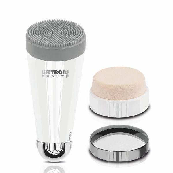 Lifetrons 3-in-1 Facial Kit – Spazzola pulizia viso con massaggio e applicazione makeup